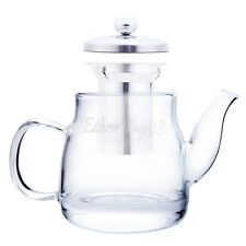 Heat Resistant Clear Glass Teapot With Infuser Coffee Tea Leaf Herbal Pot 600ml