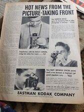 N1-7 Ephemera Folded Advert 1940 Eastman Kodak Company Picture Taking