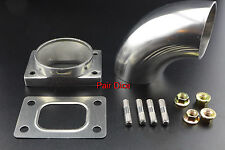 "T25 T28 Turbo Inlet To 2.5"" Elbow  Stainless Steel Weld Adapter + Gasket + Stud"