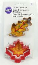 Wilton Cookie Cutter Set of 2 Leaves Maple Fall Thanksgiving Halloween Autumn