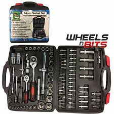 "NEW 94pcs SOCKET TOOL SET 1/2"" & 1/4"" & SCREWDRIVER BITS TORX RATCHET DRIVER KIT"