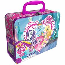 My Little Pony Friendship Magic Collectible Embossed Tin Lunchbox & Puzzle New