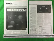 Custom Sound Trucker combo amp speakers magazine article / review circa 1980