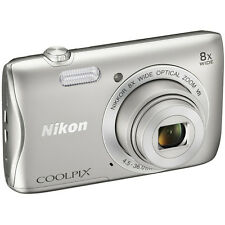 Nikon COOLPIX S3700 20.1MP 8x Optical Zoom Digital Camera w/ Wi-Fi & NFC - Refur