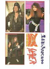 SLAYER LEE AARON ZODIAC MINDWARP page of  UNUSED magazine STICKERS