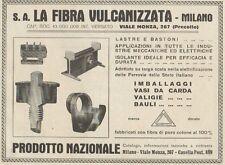 Z1221 Valige e Bauli LA FIBRA VULCANIZZATA - Pubblicità d'epoca - 1932 Old ad