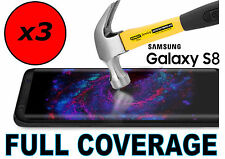 3x FULL COVERAGE HD CLEAR SCREEN PROTECTOR COVER 3D TPU FILM SAMSUNG GALAXY S8