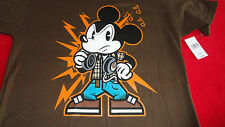 Small 5/6 Mickey Mouse as Disc Jockey on Hanes Tee NWT DIsney Parks