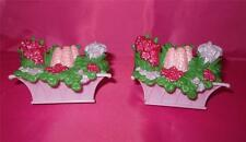FISHER PRICE Loving Family  LOT of 2 Outside Flower Boxes for Dollhouse