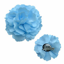 """Maggie Tang 3"""" Rose Flower Hat Hair Clip Brooch Pin Wedding Party Corsage Hair"""