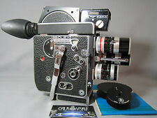 400 FT MAGAZINE BOLEX H8 REFLEX 8MM MOVIE CAMERA KERN MACRO SWITAR C-MOUNT LENS