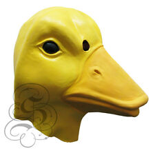 Latex Full Head Farm Animal Yellow Duck Fancy Dress Up Prop Carnival Party Mask