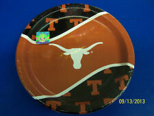 """Texas Longhorns NCAA College Football Sports Party 9"""" Paper Dinner Plates"""