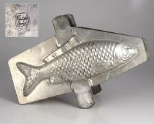 "Vintage French Tinned Metal Chocolate Fish Mold, Signed ""Matfer France"""