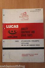 Lucas qualità attrezzature e i pezzi di ricambio 1965 standard & AUTO TRIUMPH & Spot