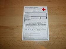 Original Bw - Ausweis für vorübergehend im Sanitätsdienst eingesetztes Personal