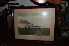 Vintage Photograph United States Navy WWII Battleship Destroyer-USS Chester CA27