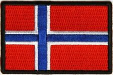 """(A30) NORWAY FLAG 3"""" x 2"""" iron on patch (5180) Biker"""