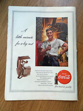 1953 Coke Coca-Cola Ad  Steel Worker  1953 Pabst Blue Ribon Beer Ad  Game Cards
