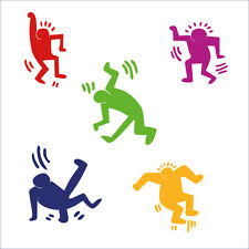wall sticker stickers adesivo adesivi 20 omini keith haring arte art decal