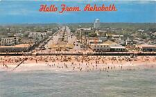 REHOBETH BEACH DELAWARE AERIAL VIEW DEXTER PRESS POSTCARD (c. 1950s)