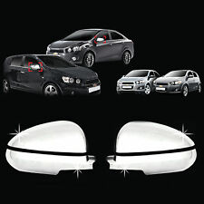 Chrome Side Rear View Molding Trim Cover for 11+ Chevrolet Aveo/Sonic