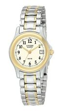 Ladies Citizen Quartz Two Tone Stainless Numbers Watch With Date EU1974-57A