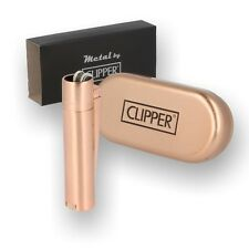 ROSE GOLD Clipper Metal Lighter- Metallic Finish with Tin LIMITED EDITION