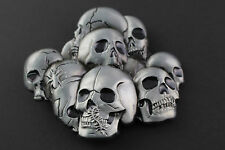 GRAVE PILE OF SKULLS BELT BUCKLE METAL