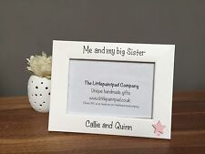 Personalised handmade children's photo frame - Me and my big Sister