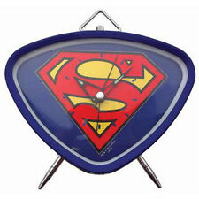 NEW SUPERMAN LOGO ALARM CLOCK RETRO TWIN BELL STYLE NOVELTY GIFT MAN OF STEEL