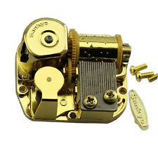 "SANKYO Gold Windup DIY Music Box Movement Key 18 Tune ""You Are My Sunshine"" XW"
