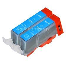 2 Stück CANON + Chip CLI-521 cyan MP620 MP630 MP640 MP990 IP3600 TINTE NEU
