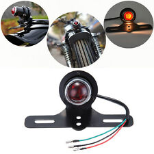 Motorcycle Tail Stop Brake Light License Plate Lamp For Harley Bobber Cafe Racer