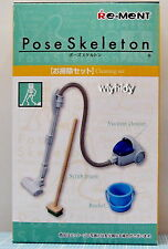 Pose Skeleton Part III Cleaning Set, 1pc - Re-ment   ,    h#11