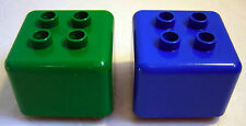 Lego Duplo Primo ADAPTER BLOCKS Converters *Lot of 2* Green/Blue Building Toy