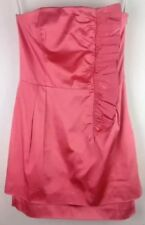 Forever New Frill Detail Cocktail Coral Dress Size 10 RRP $129.99 As New