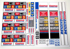 COSTCO GASOLINE PETROL STATION STICKERS for MODELS, TOYS, LEGO, ETC