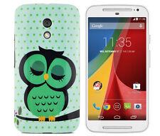 TPU Case f Motorola Moto G2 Schutzhülle Tasche Cover Etui süße Eule Baum