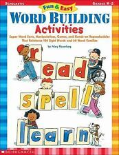 Fun and Easy Word Building Activities : Super Word Sorts, Manipulatives,...