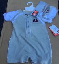 NCAA University Of Massachusetts Onezie Baby Outfit And Hat 6-9 Month