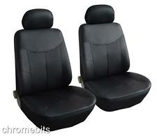 FRONT BLACK LEATHERETTE SEAT COVERS FOR MERCEDES A B C E ML VITO SPRINTER VANEO