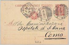 REGNO - Storia Postale: INTERO POSTALE con annullo NATANTE: COMO / COLICO 2 1907