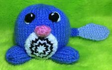 KNITTING PATTERN - Poliwag from Pokemon inspired choc orange cover or 7 cms toy