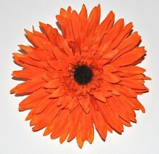 "5"" Bright Orange Gerbera Daisy Silk Flower COMBO HAIR Clip BROOCH Pin Wedding"