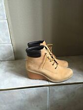 Timberland Women's Amston 6 inch Wedge Heels Boots 8251A Wheat SZ 8