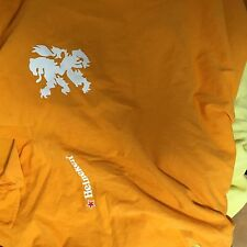 heineken orange licensed  golf polo  shirt adult men's L/XL Large XK
