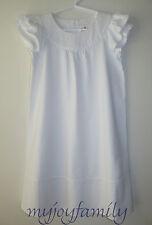 HANNA ANDERSSON Swiss Dot Dress White 130 8 NWT