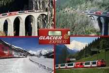 SOUVENIR FRIDGE MAGNET of THE GLACIER EXPRESS TRAIN SWITZERLAND