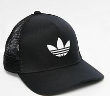 ADIDAS ORIGINALS TRUCKER CAP BASEBALL TREFOIL HAT BLACK MEN SNAP BACK mesh